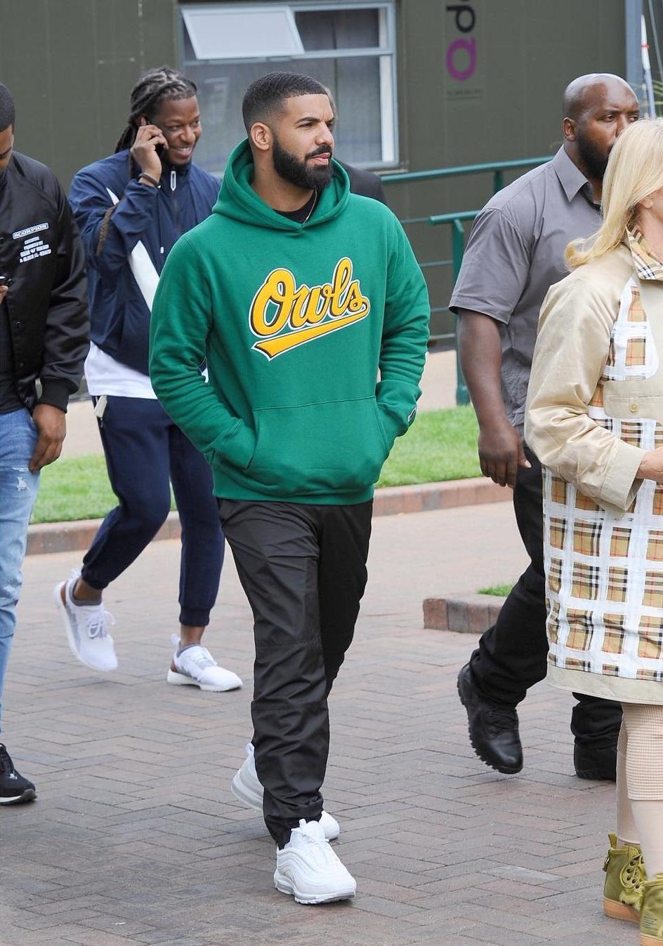 SPOTTED: Drake Rocking Nike at Wimbledon