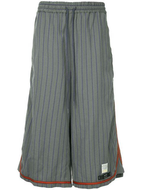 Facetasm x Woolmark long striped shorts