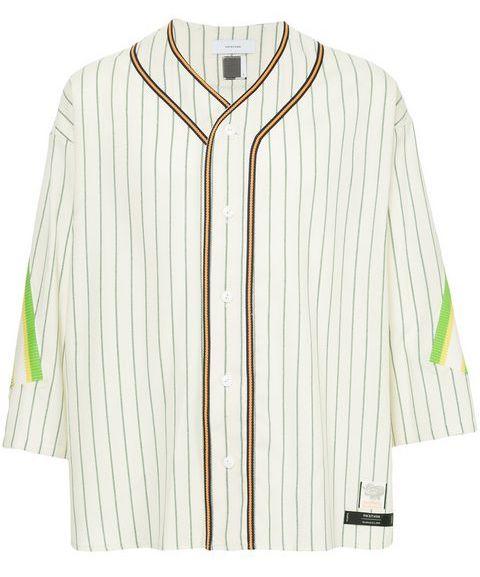 Facetasm x Woolmark striped baseball shirt