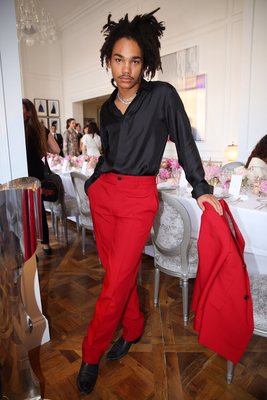 SPOTTED: Luka Sabbat Dresses in Smooth Christian Dior Suit