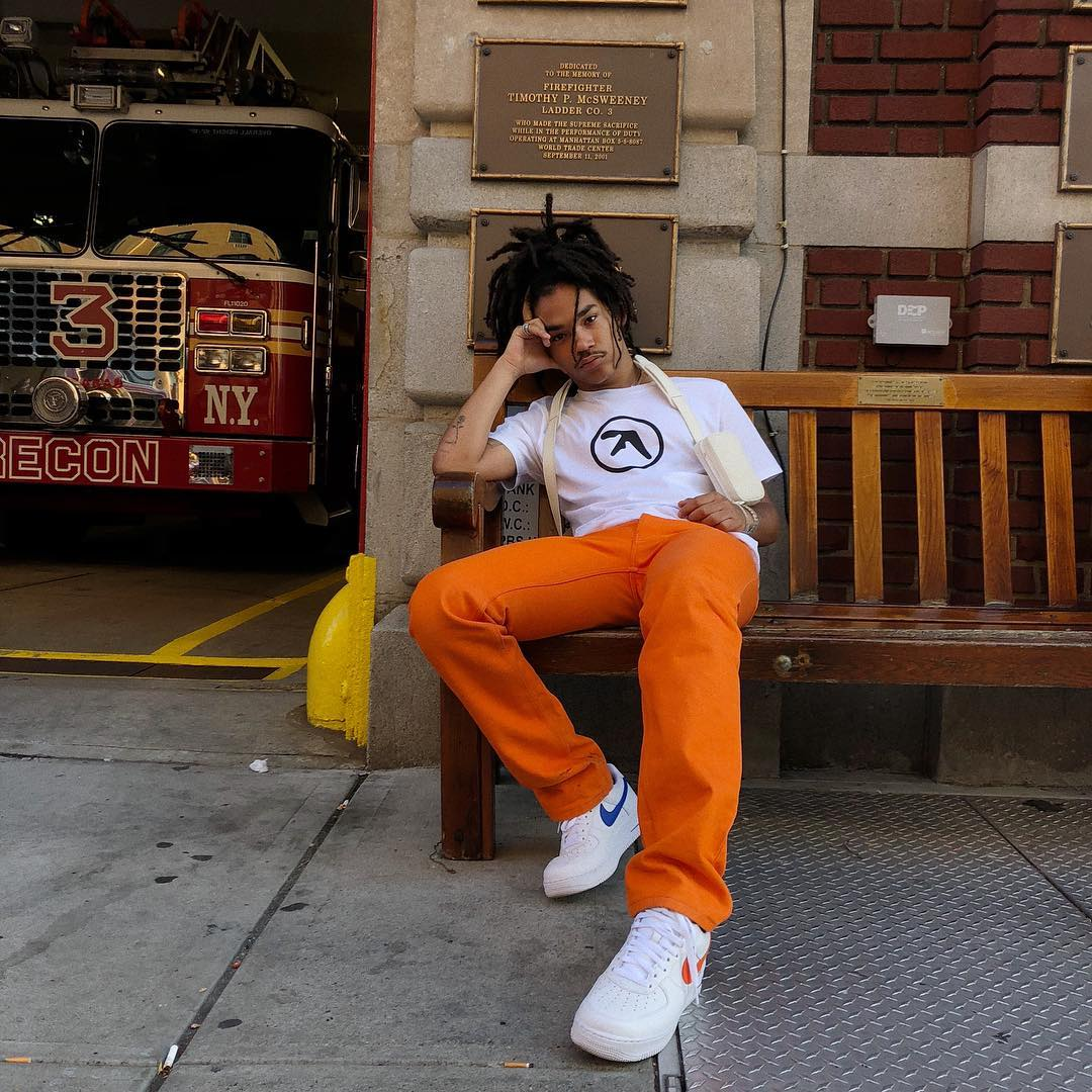 SPOTTED: Luka Sabbat Rocks Aphex Twin and Nike in New York