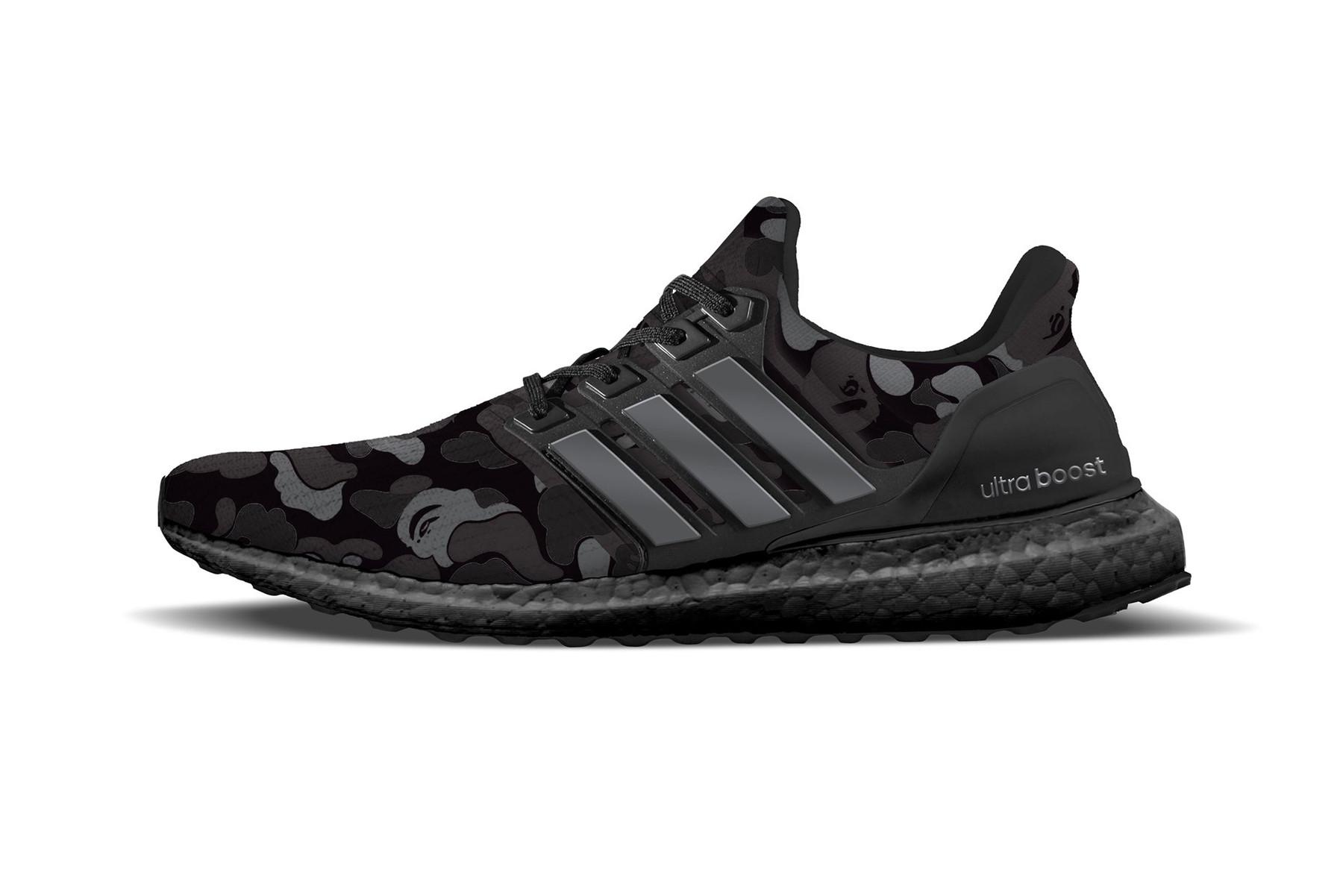 BAPE & adidas Set to Release Black Camo UltraBOOST Trainer