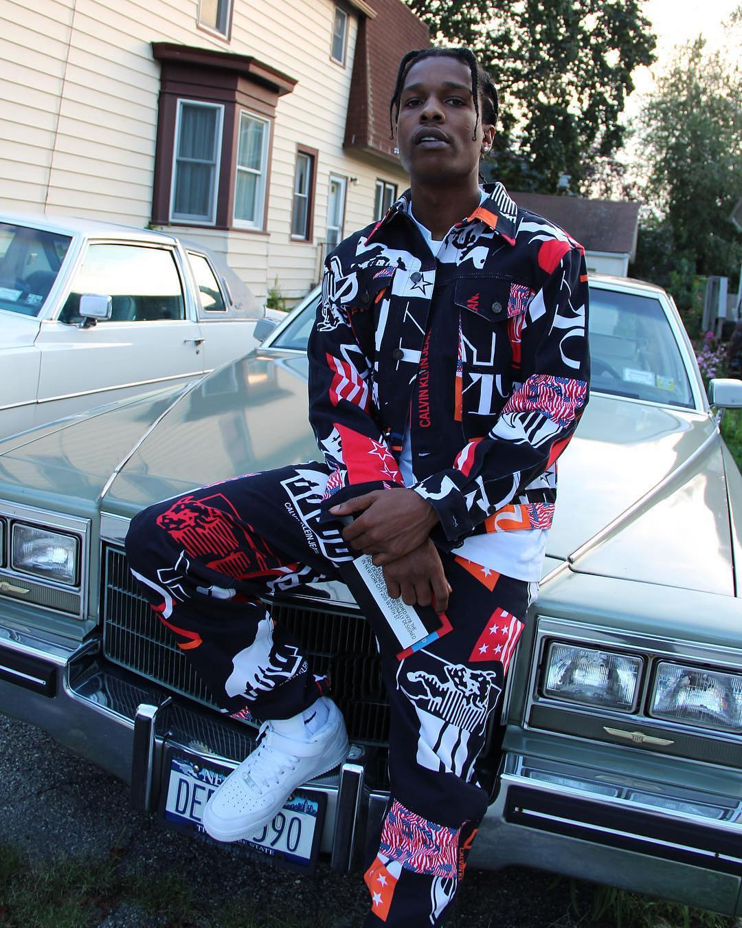 SPOTTED: ASAP Rocky in Calvin Klein Est. 1978 & Nike