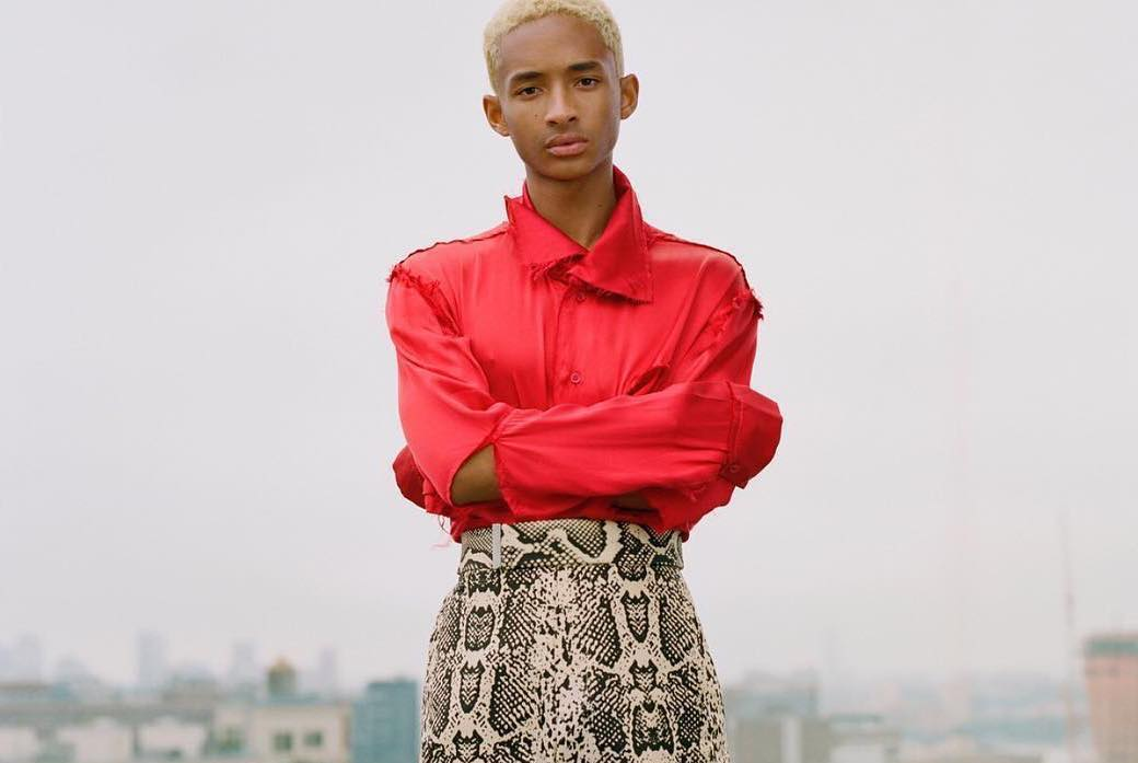 SPOTTED: Jaden Smith Flaunts Snakeskin Pants for VMAN Mag