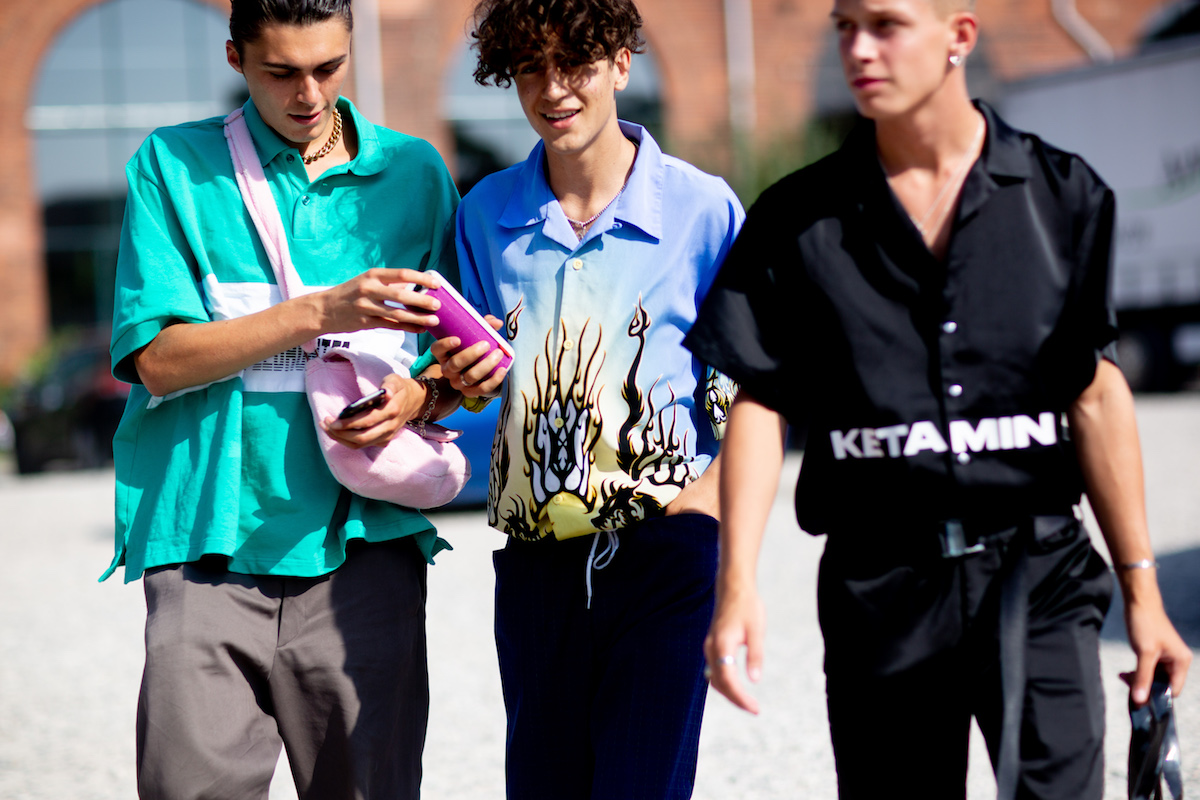 Street Style Outside The Heliot Emil SS19 Show