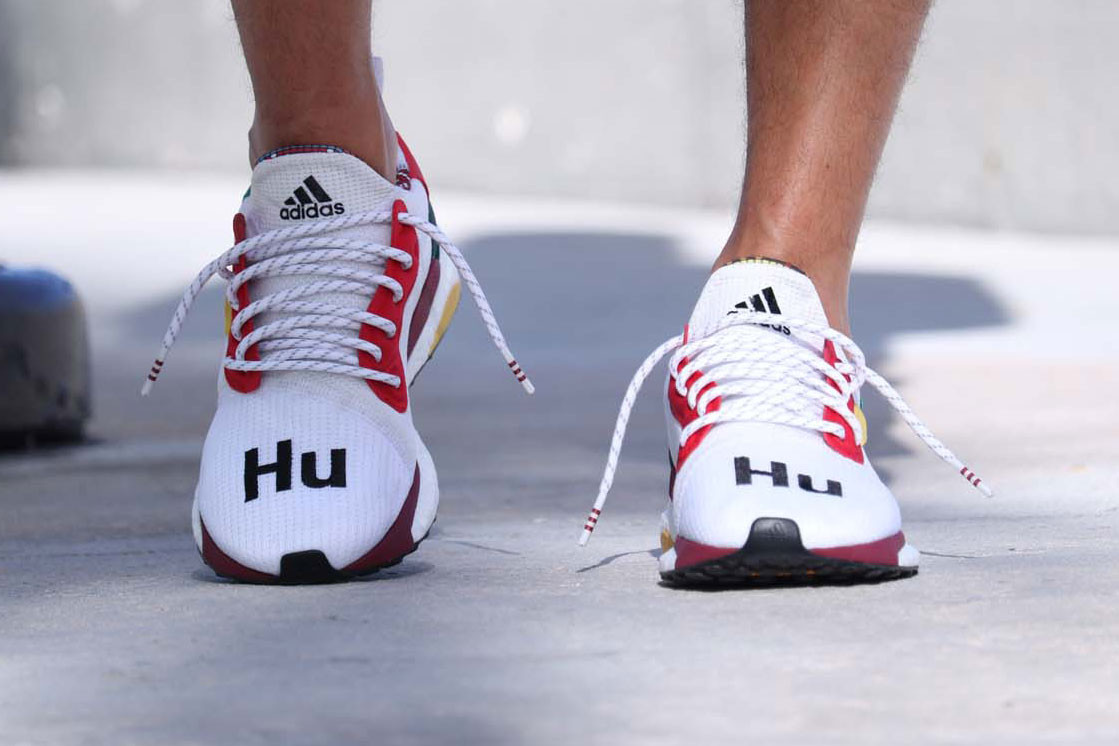 An Early On-Feet Look at Pharrell X Adidas' Solar Hu Glide ST in White