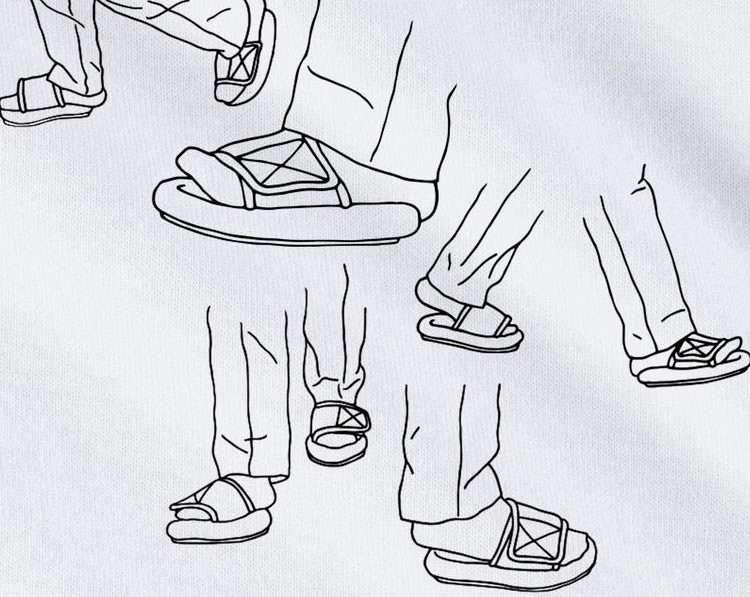 Diet Prada Drops YEEZY Undersized Sandals Parody T-Shirt