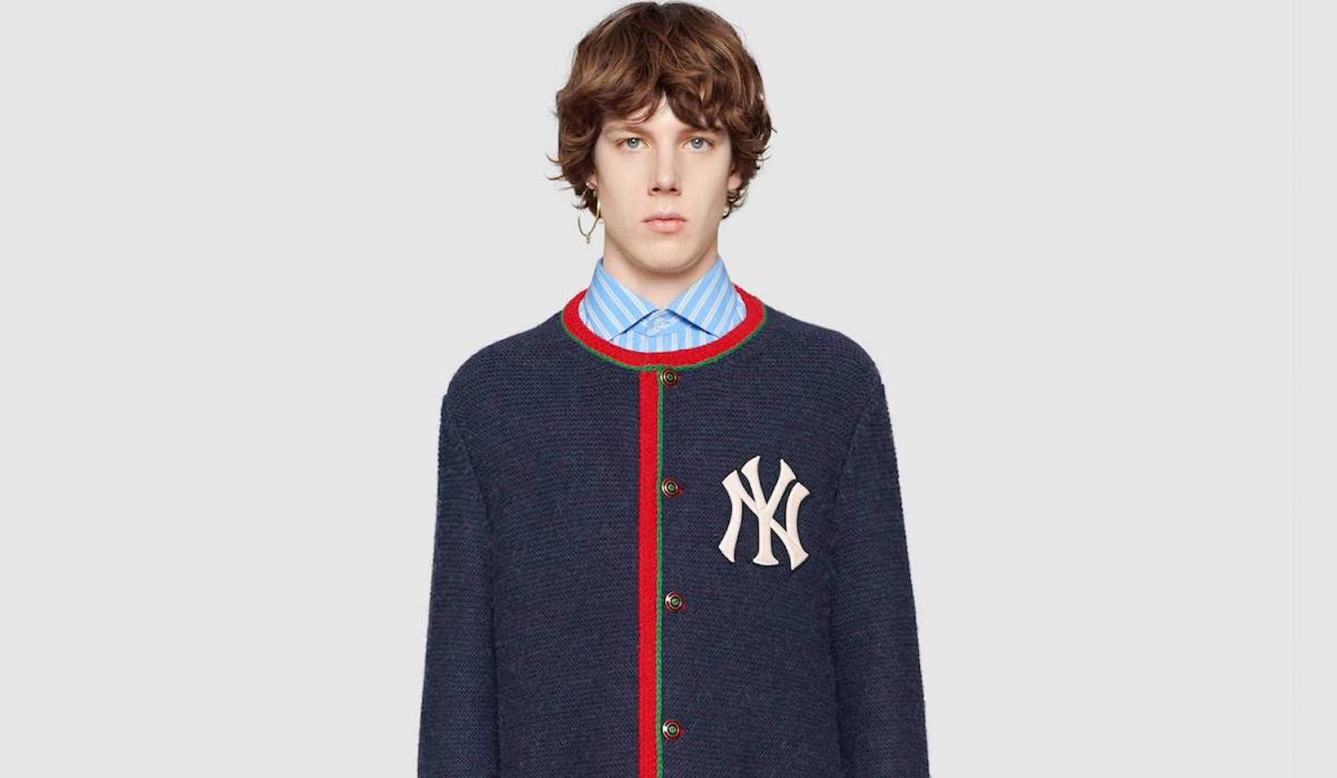 New in Gucci: NY Yankee Knitwear