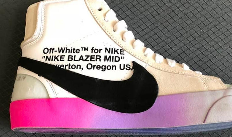 Images of A Rainbow Soled Off-White x Nike Blazers Surface
