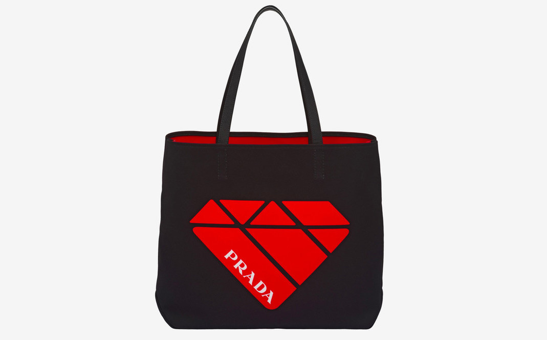Prada Releases Printed Canvas Tote Bags