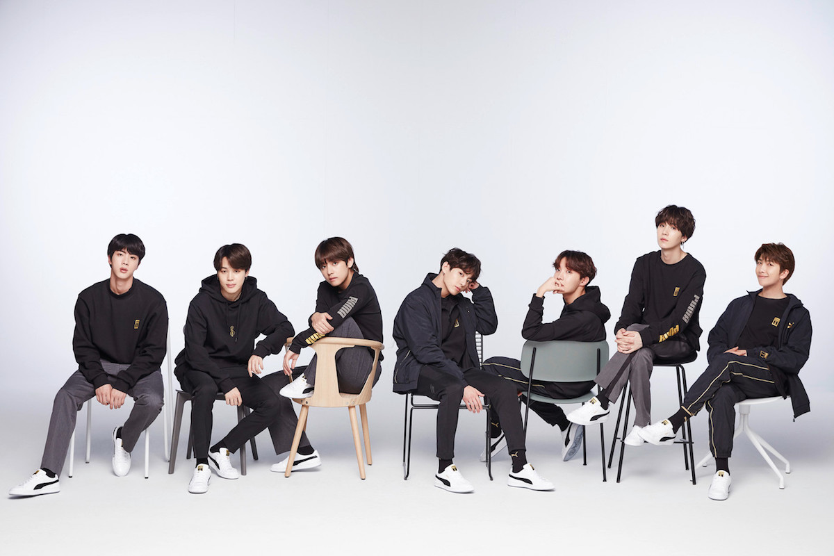 PUMA Taps Korean Boy Band BTS for Basket Collab