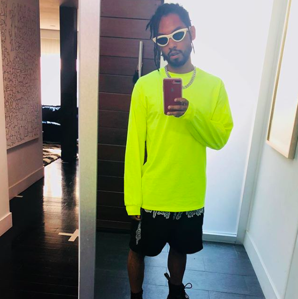 SPOTTED: Miguel Flexing with his Bright Street Style