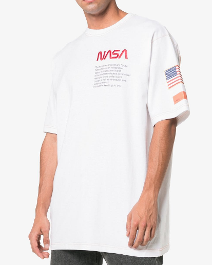 HERON PRESTON In London? Enjoy Same Day Delivery Inspired by Nasa embroidered cotton t-shirt