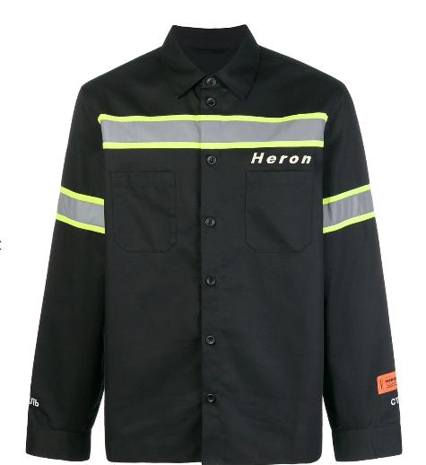 HERON PRESTON reflective panel shirt