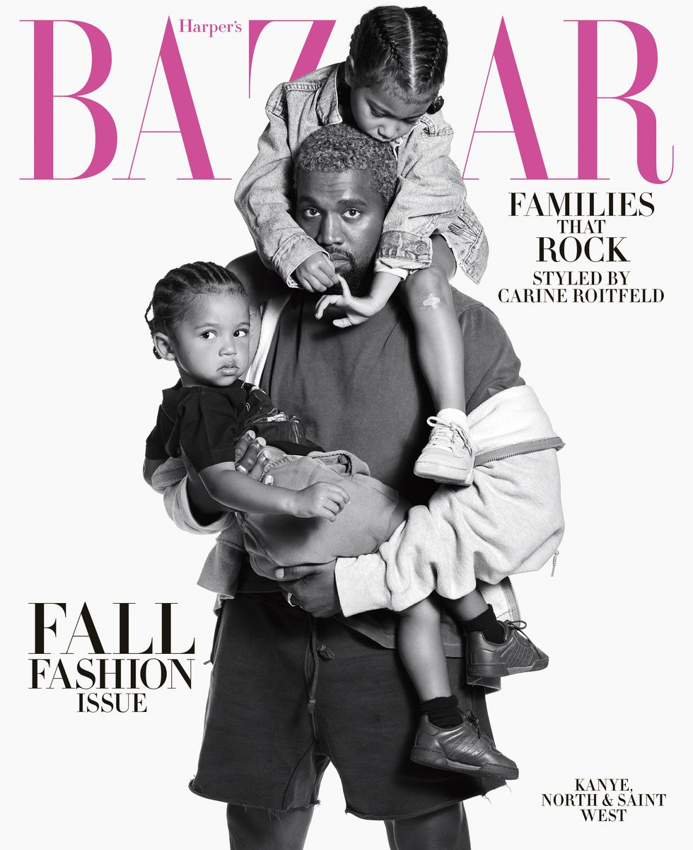 Kanye West Graces The Cover of Harpers Bazaar's September Issue