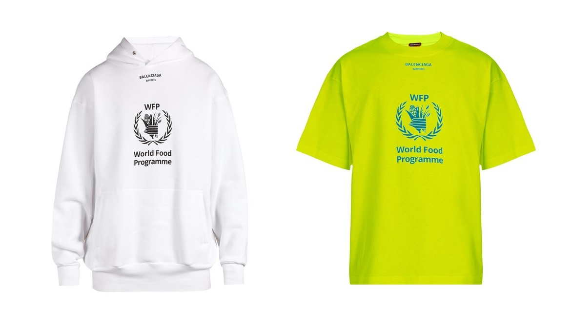 Balenciaga Drops New Offerings in Conjunction with the World Food Programme