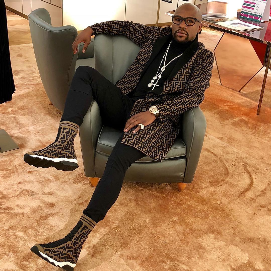 SPOTTED: Floyd Mayweather Rocks Fendi from Head to Toe