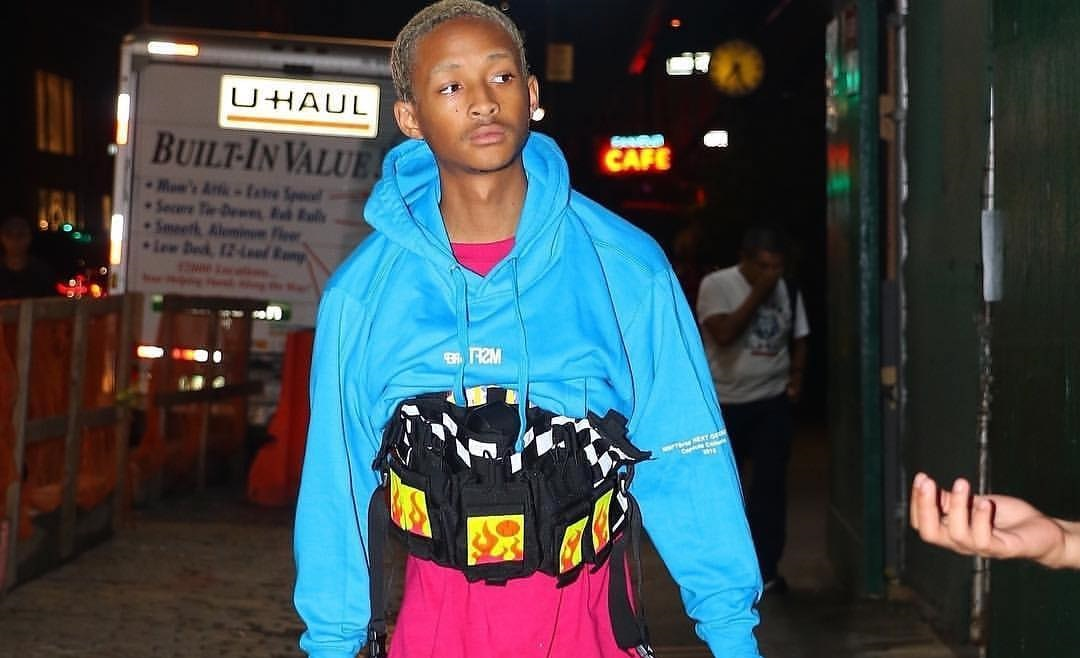 SPOTTED: Jaden Smith in MSFTSrep, Custom New Balance x Louis Vuitton and Thrashers