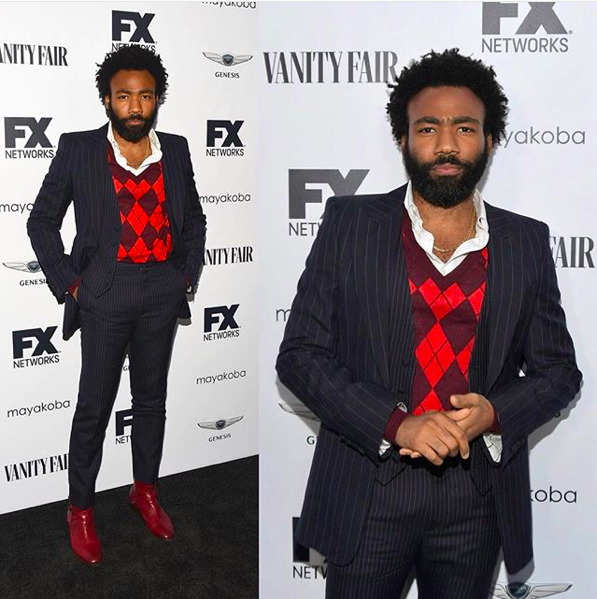 SPOTTED: Childish Gambino Flexing at the FX Vanity Fair