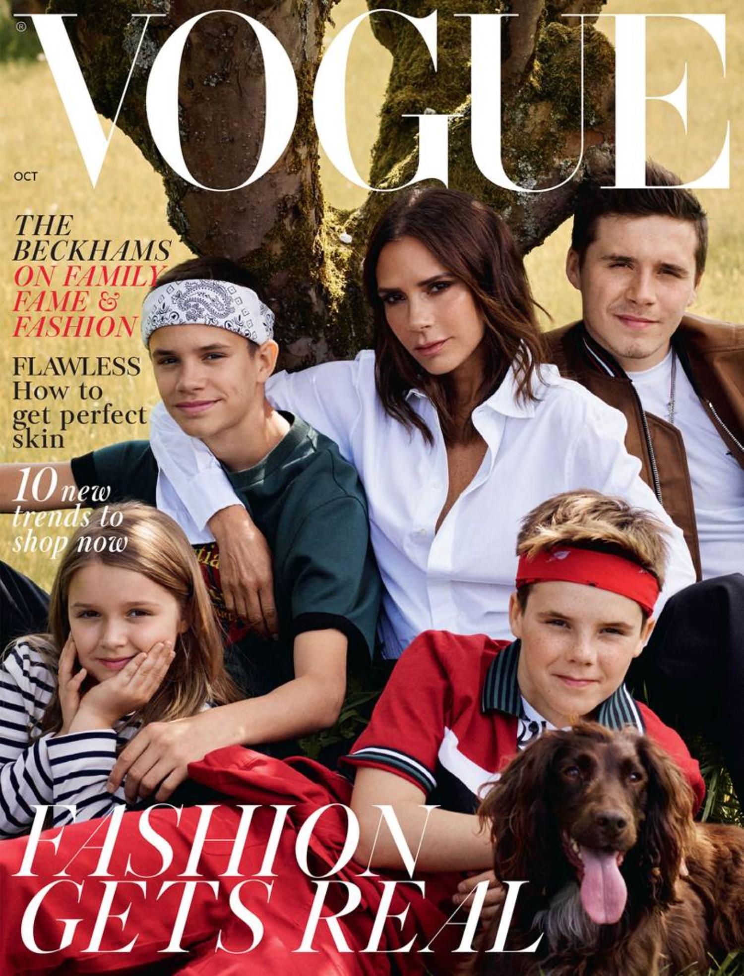 The Beckhams Cover British Vogue to Celebrate a Decade of Victoria Beckham