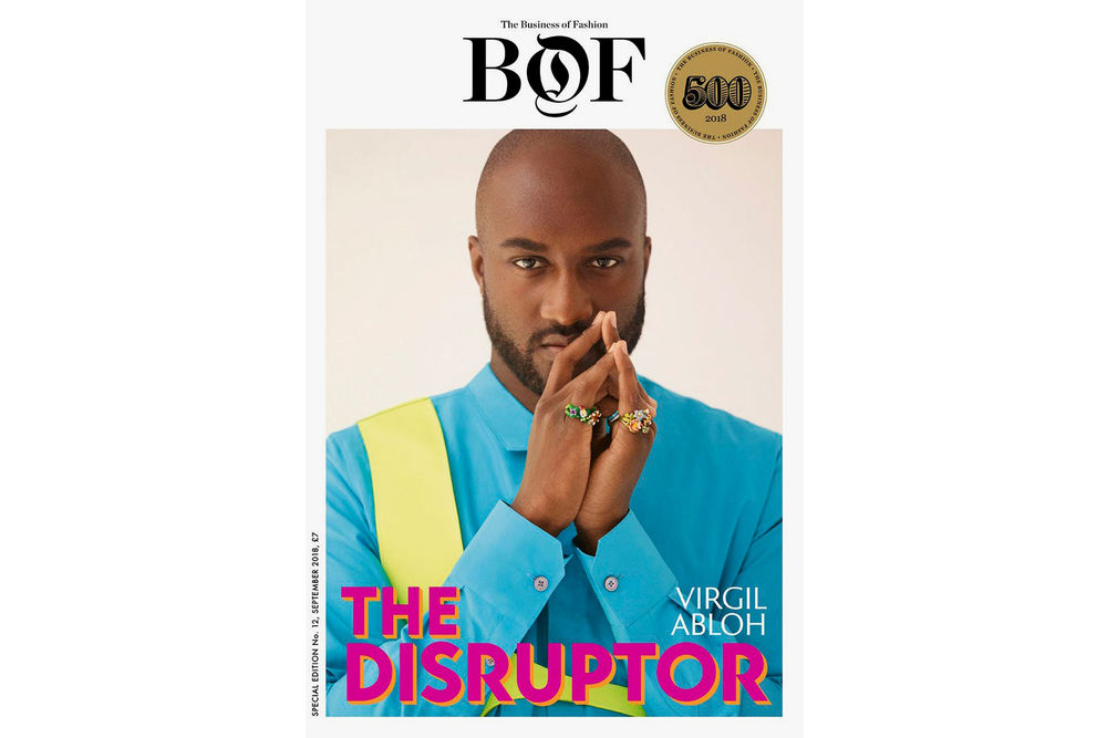 Virgil Abloh Covers Business of Fashion '#BOF500' 2018 Edition