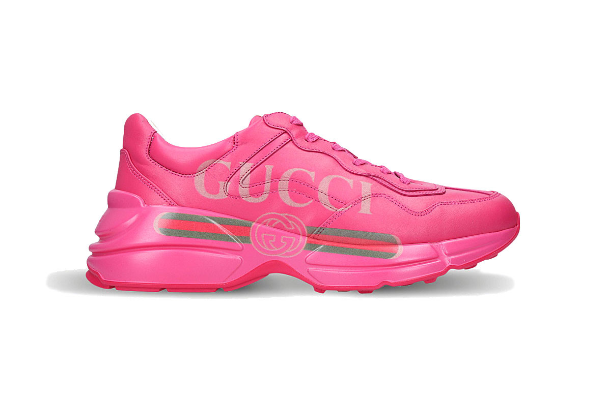 PAUSE or Skip: Gucci Rhyton Logo Sneaker in All-Pink