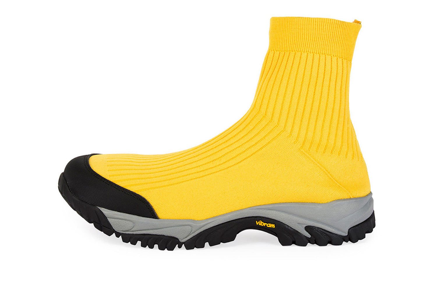 PAUSE or Skip: Maison Margiela Security High-Top Sock Runner in Yellow