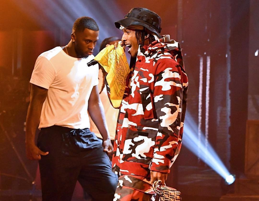 SPOTTED: A$AP Rocky Sports Fendi, Rothco and Timberland for BET