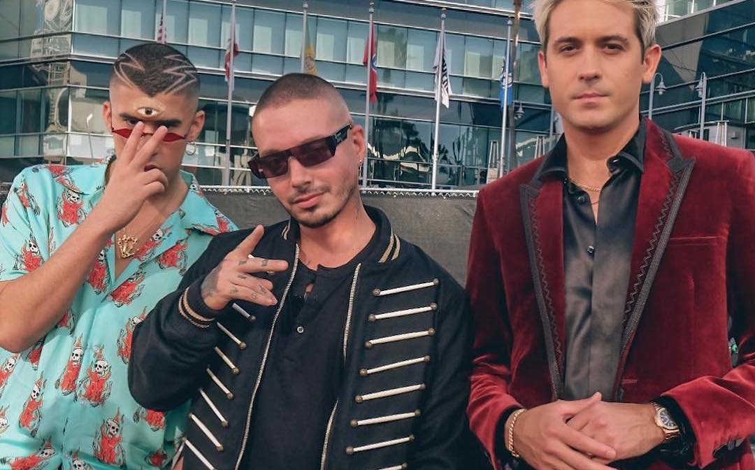 SPOTTED: J Balvin, Bad Bunny & G Eazy Flick Up at American Music Awards