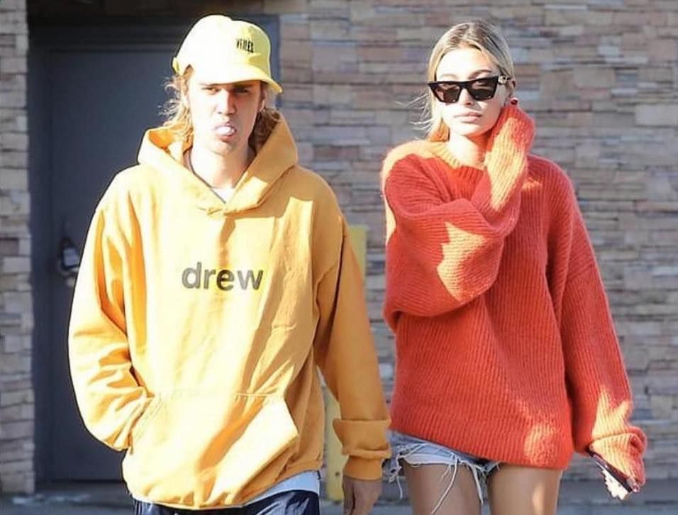 SPOTTED: Justin Bieber Out with Hailey Baldwin in Oversized Hoodie & Basketball Shorts