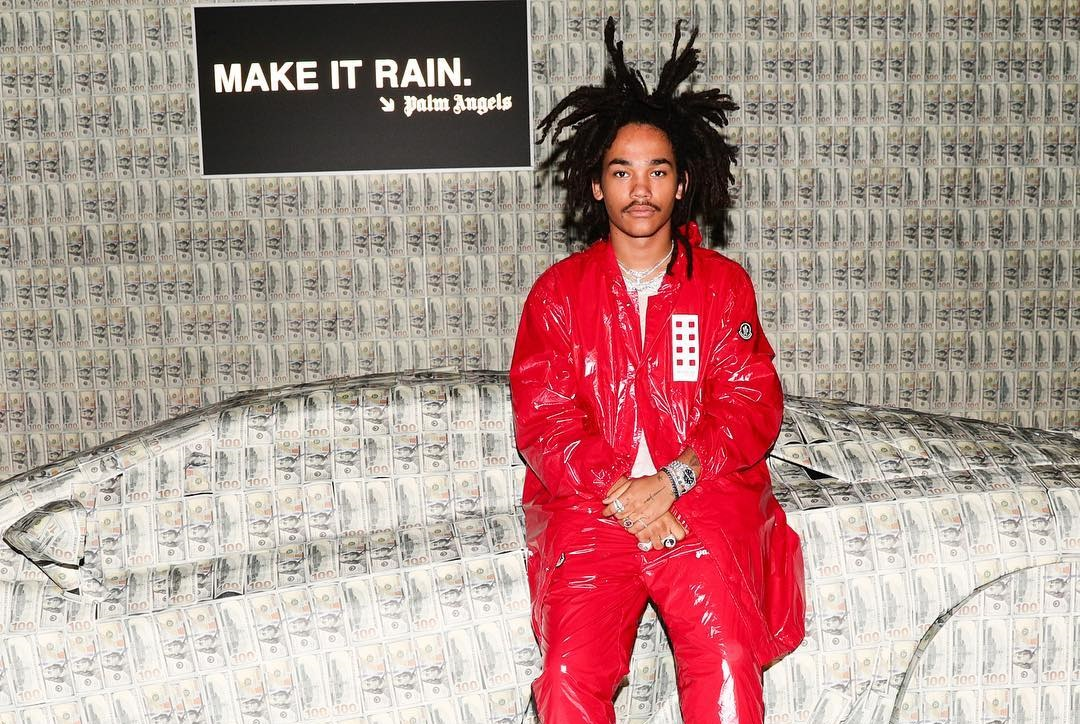 SPOTTED: Luka Sabbat Covered in Moncler at the Label's Collaborative Party with Palm Angels