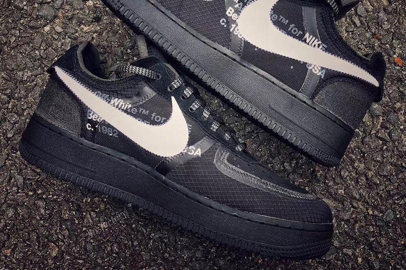 A New Black Colourway of the Off-White™ x Nike Air Force 1 Appears Online