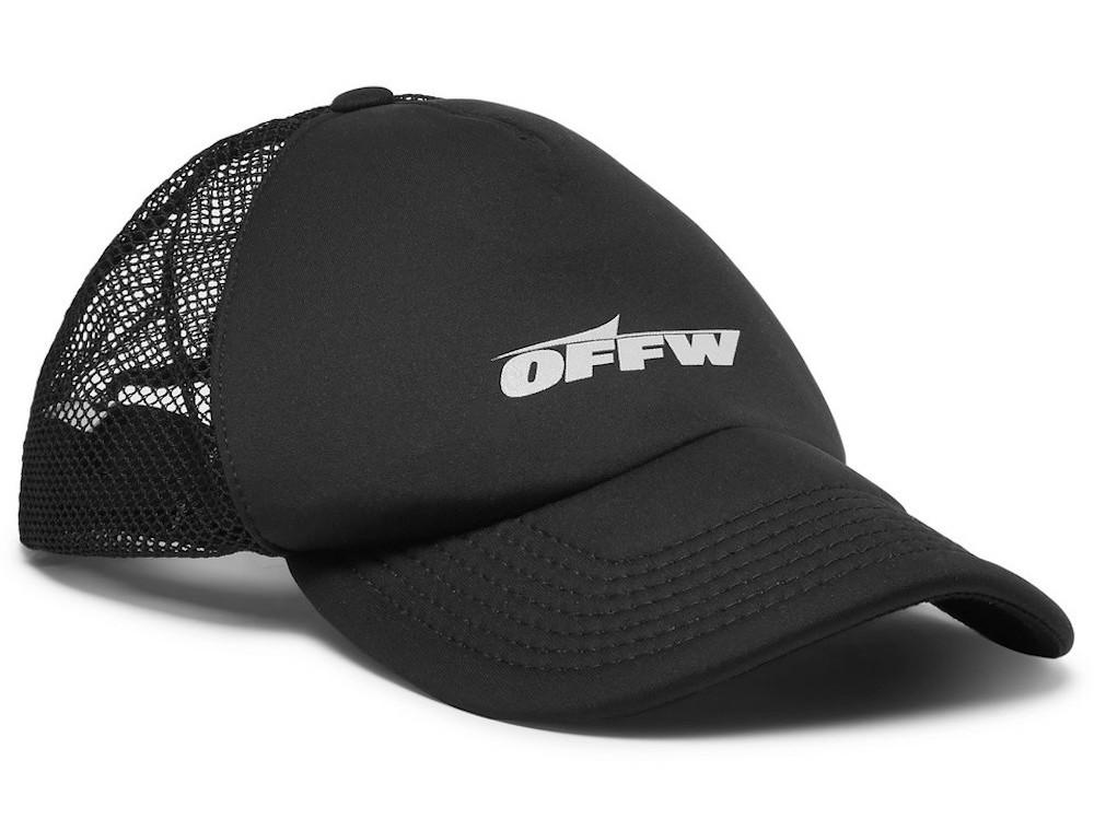 PAUSE or SKIP: Off-White Logo-Print Mesh Cap