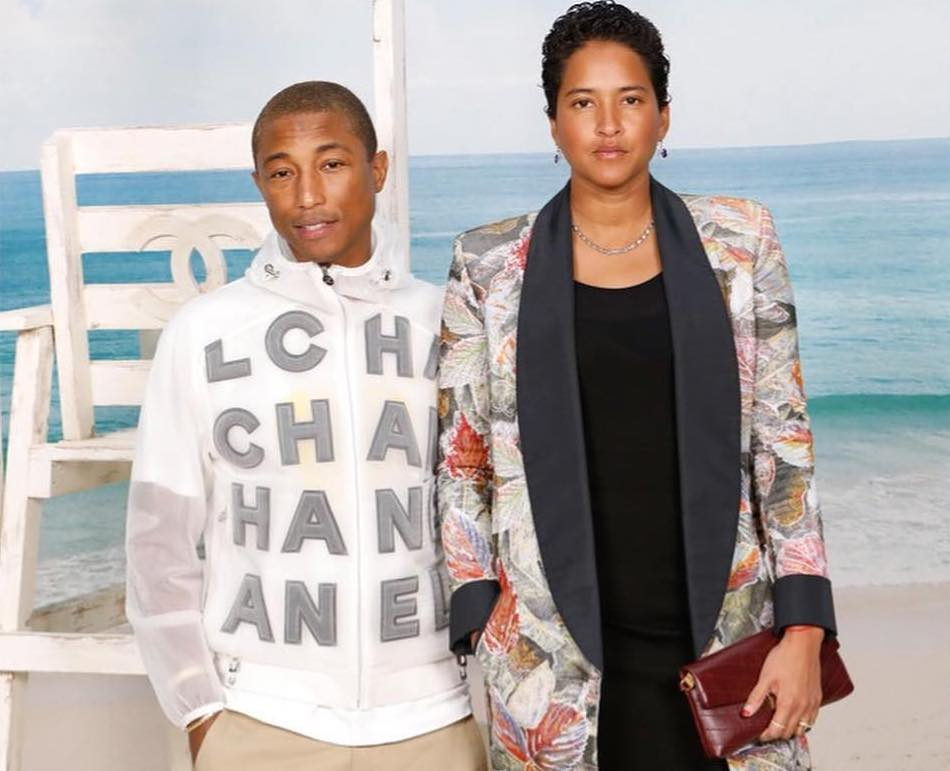 SPOTTED: Pharrell Williams & Wife Attend Chanel SS19 Show in Paris