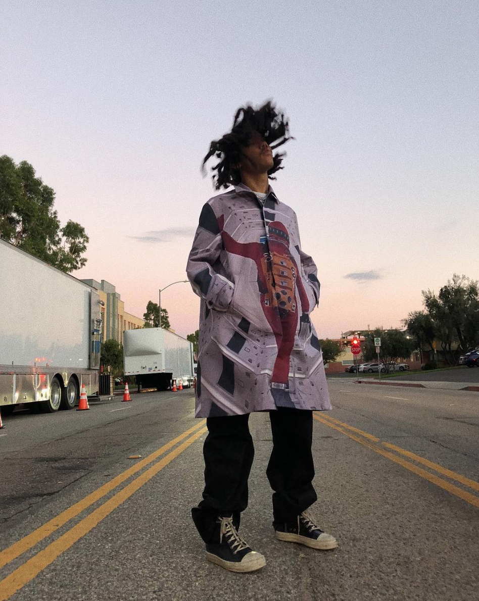 SPOTTED: Luka Sabbat Poses in Undercover Lab & Rick Owens