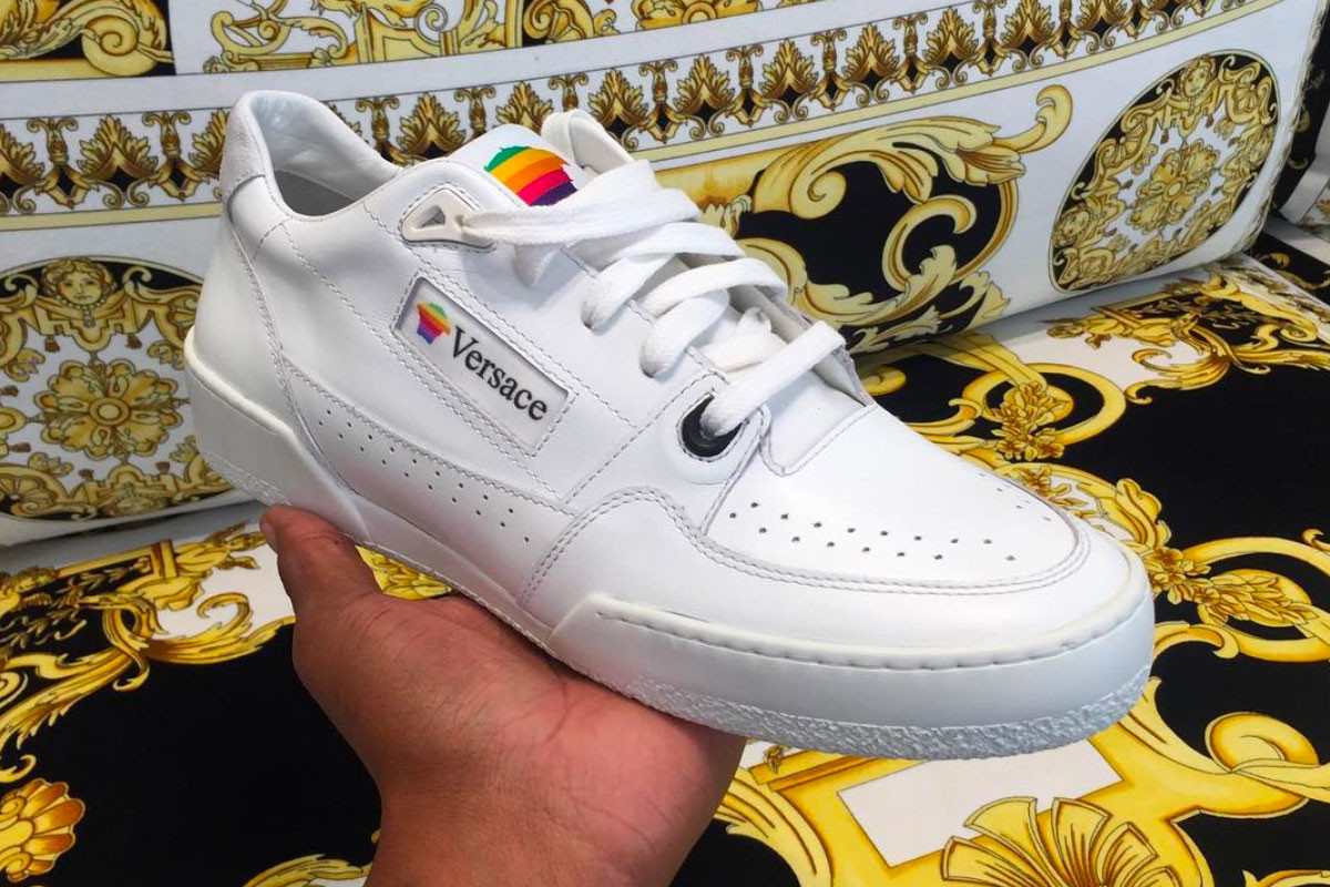 A Look at Versace's Apple Computers Inspired Retro Sneakers