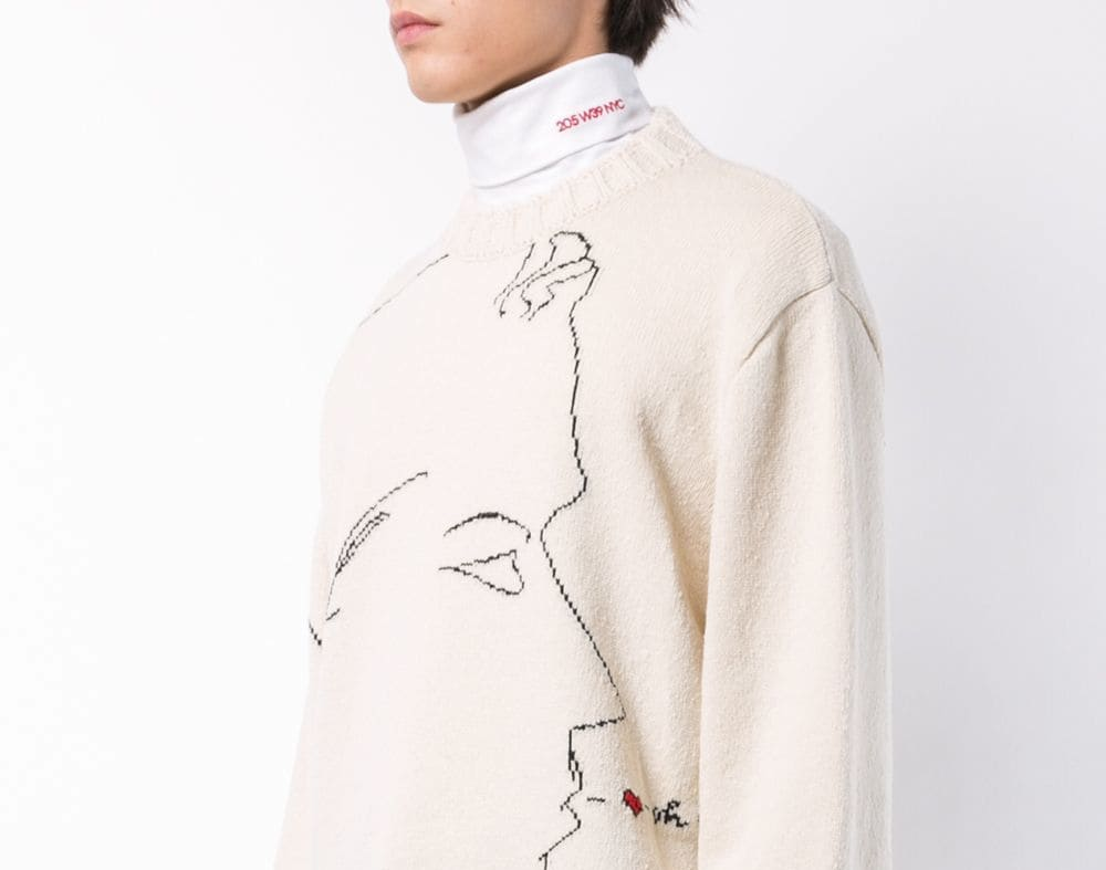 PAUSE or SKIP: Calvin Klein 205W39NYC Silhouette Embroidered Sweater