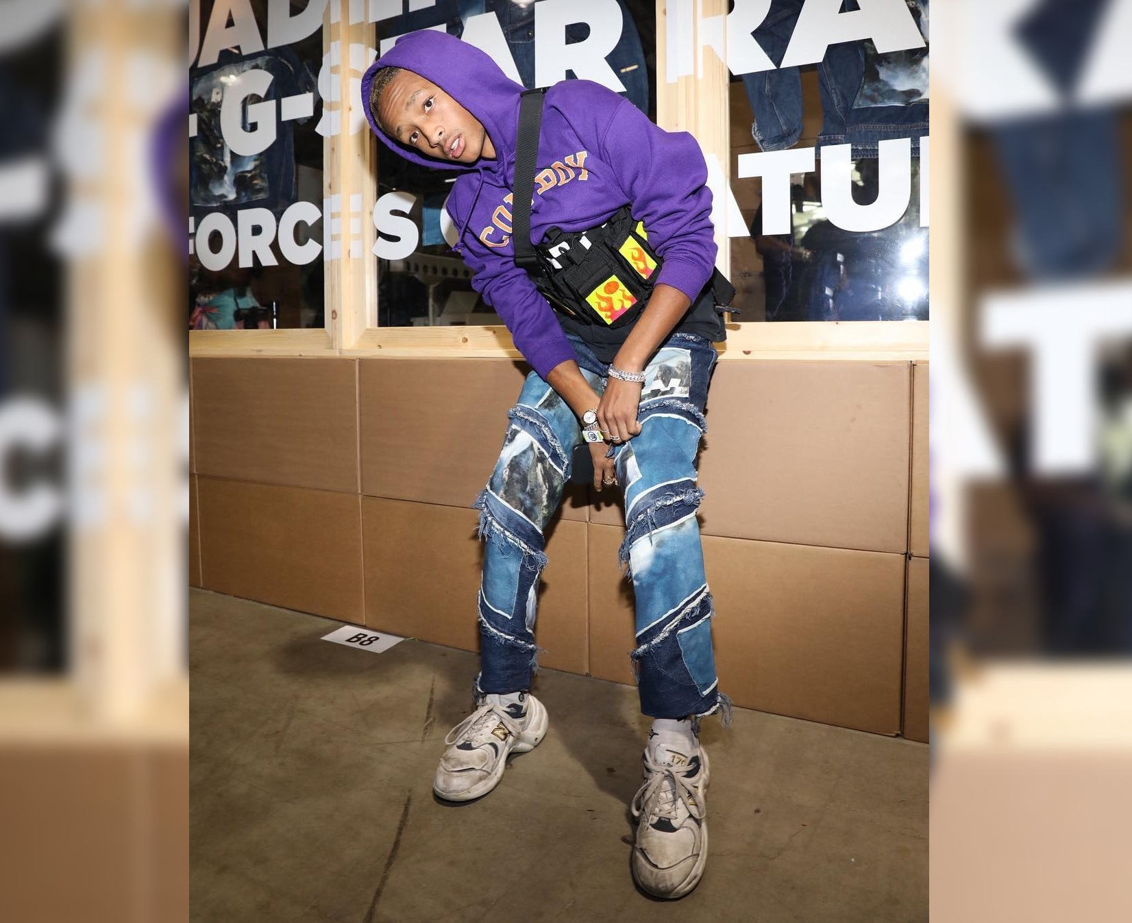 SPOTTED: Jaden Smith Adorned in G-Star RAW and Custom Louis Vuitton Sneakers