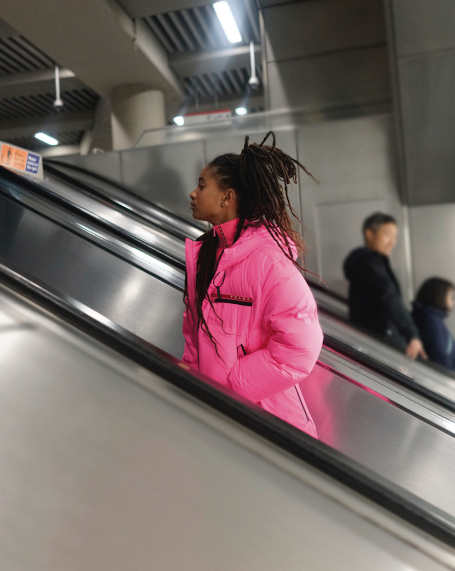 Willow Smith Busks in London Underground for Prada's Linea Rossa Launch