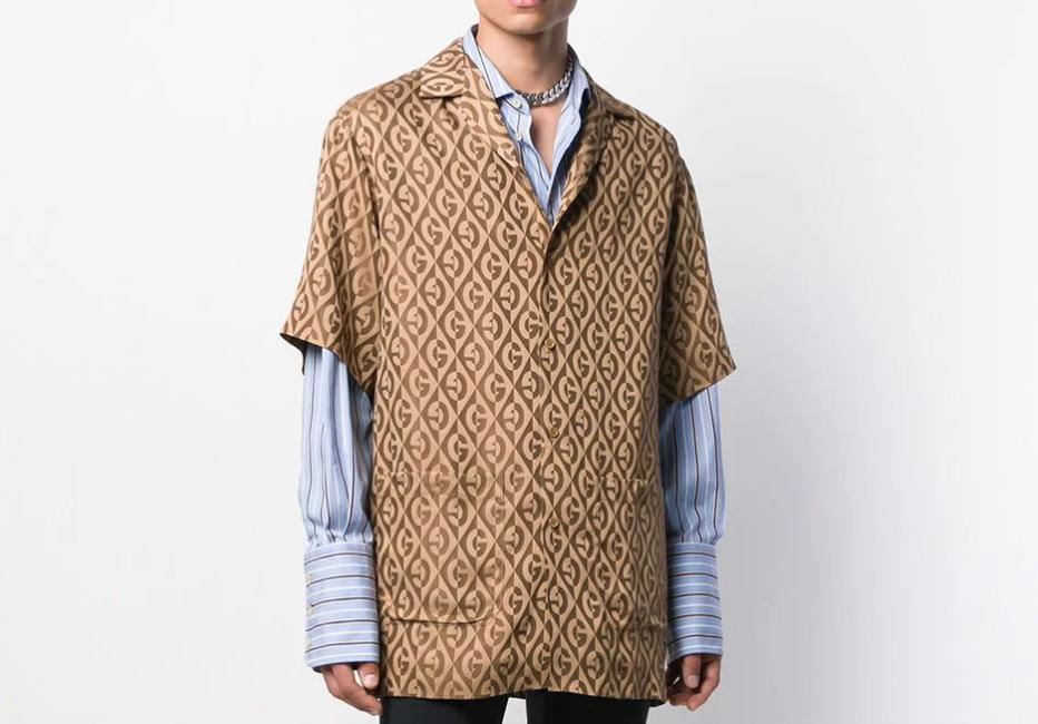 PAUSE or Skip: Gucci Diamond Logo Pattern Shirt