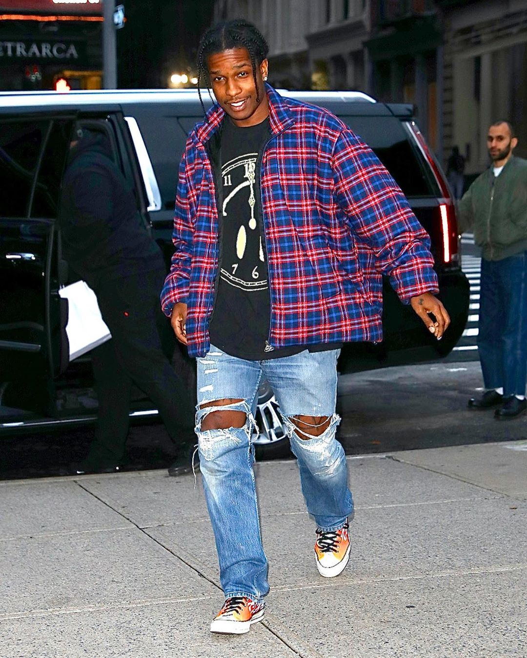 SPOTTED: ASAP Rocky Hits NYC in Balenciaga & Converse