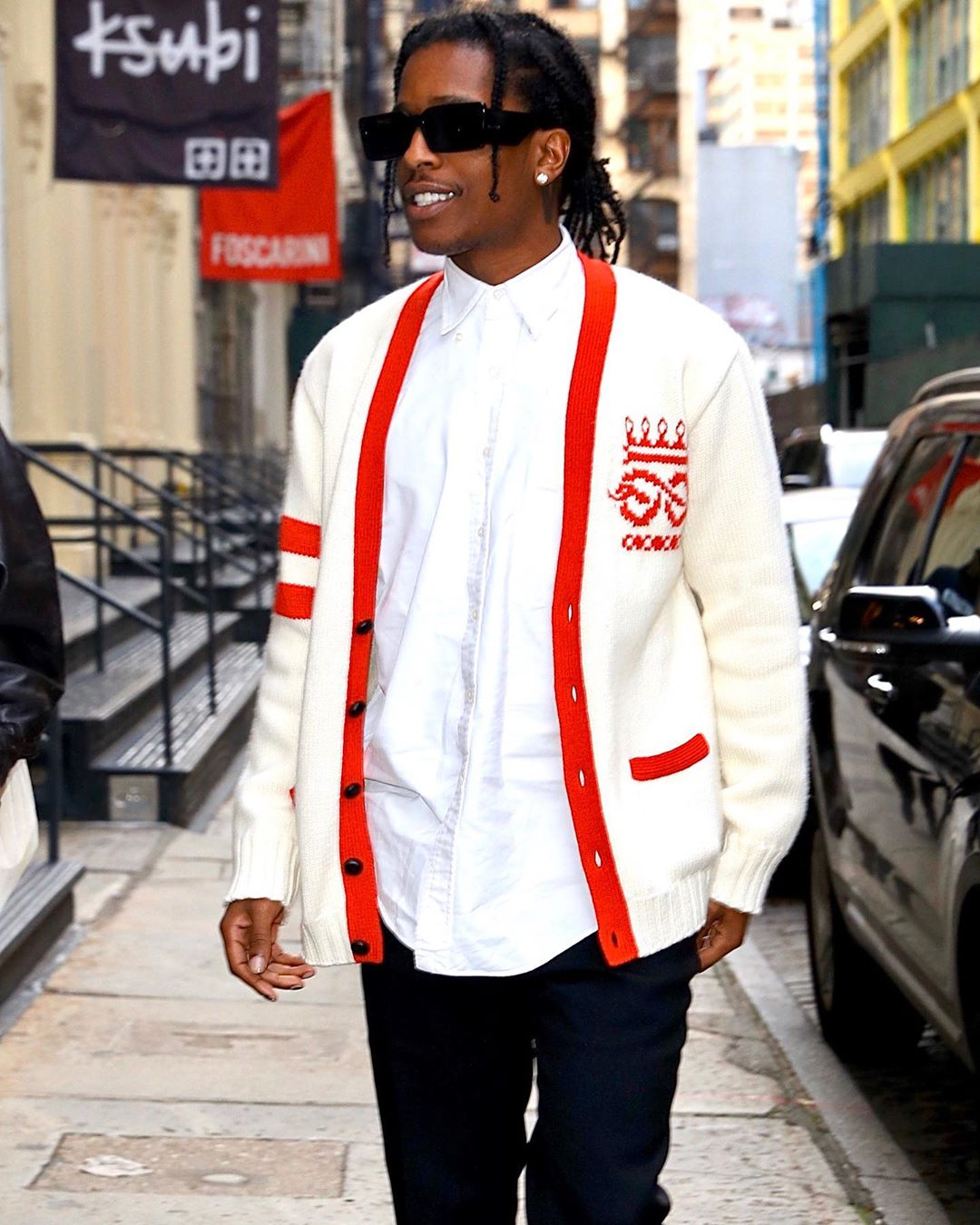 SPOTTED: ASAP Rocky heads out in Gucci during NYC Trip