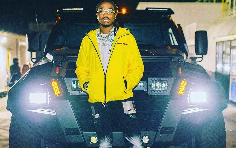 SPOTTED: Quavo Steps Out In Prada Linea Rossa & Off-White™
