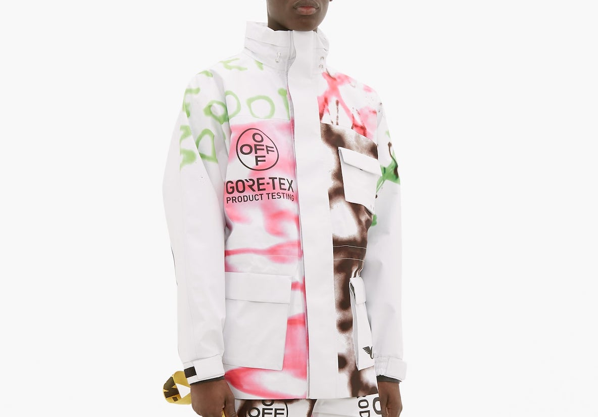 PAUSE or Skip: OFF-WHITE Graffiti Gore-Tex Jacket