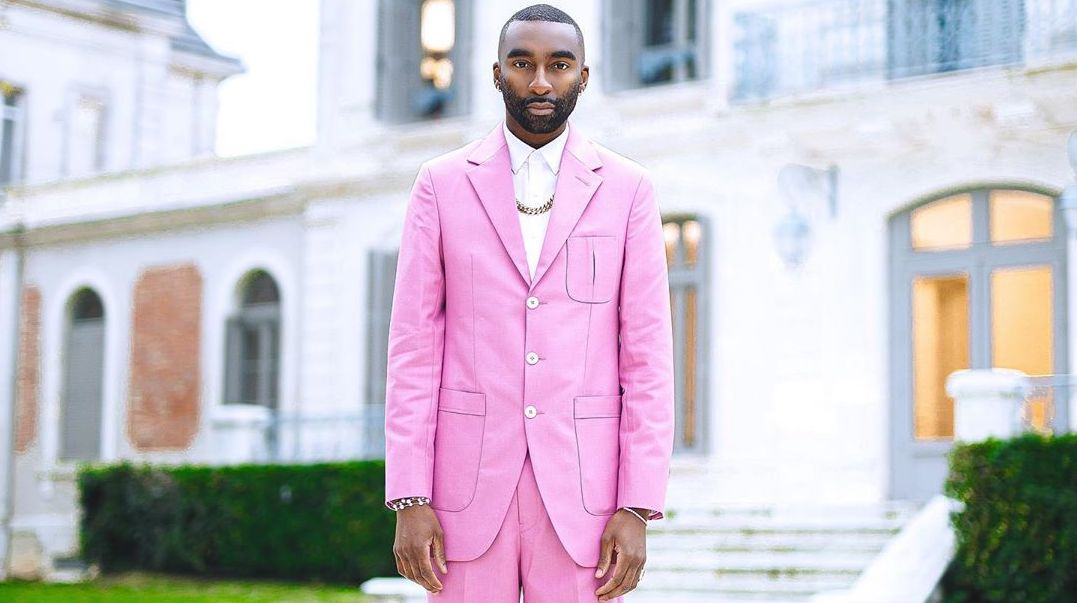 SPOTTED: Riky Rick Hits France In All-Pink Ensemble