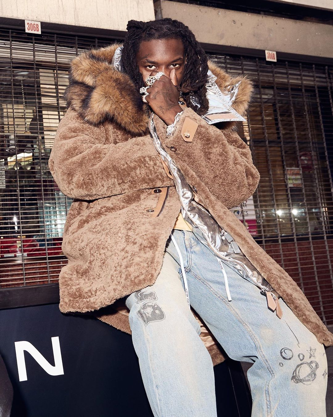 SPOTTED: Offset in Burberry & OFF-WHITE for FWRD MAN