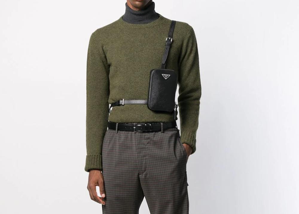 PAUSE or Skip: Black Leather Prada Crossbody Bag