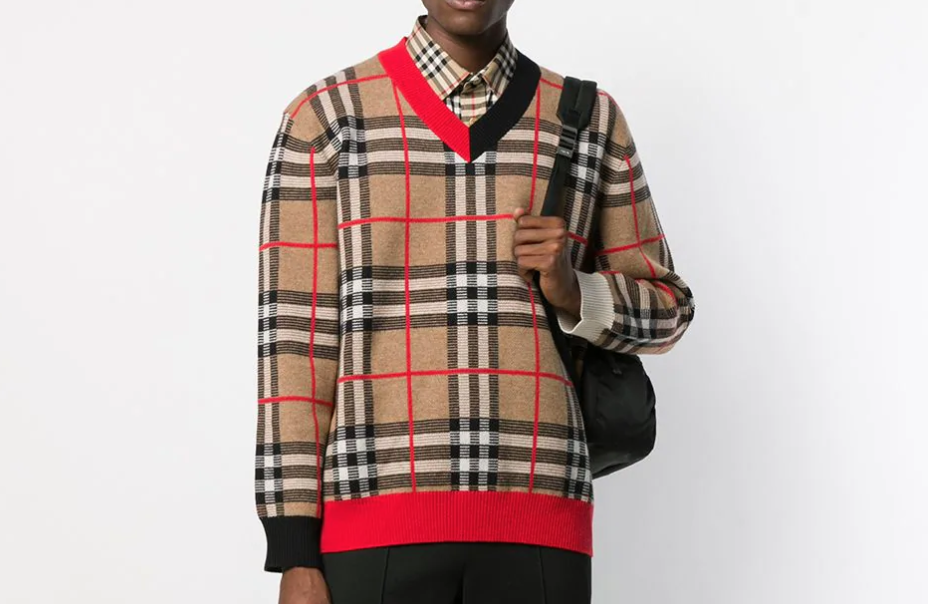 PAUSE or Skip: Burberry Jacquard-Knit Check Jumper