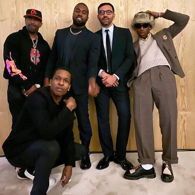 SPOTTED: Riccardo Tisci with ASAP Rocky, Ye & Tyler, The Creator