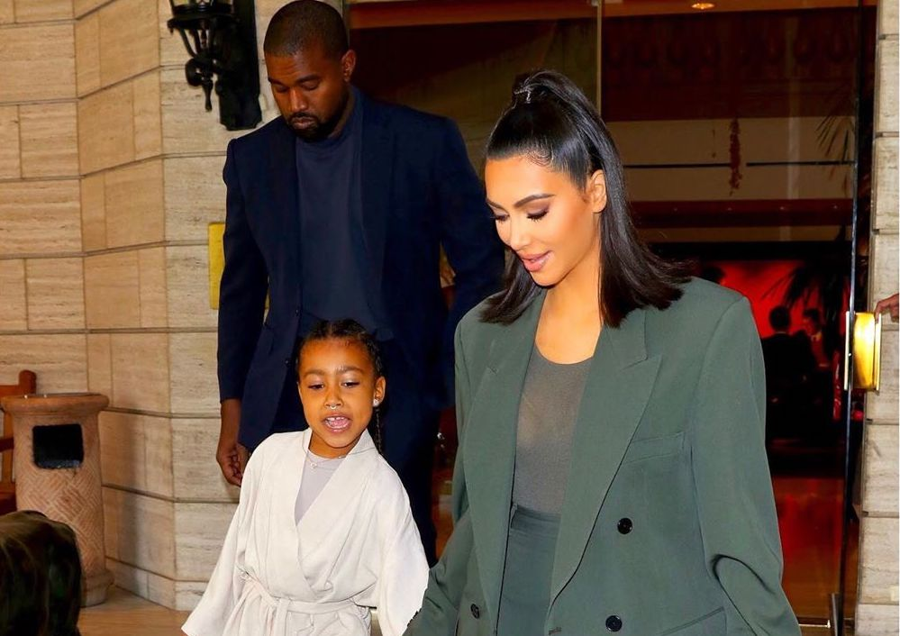 SPOTTED: Kanye, Kim And North Suited & Booted